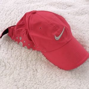 Nike golf hat ball cap pink and polkadot one size